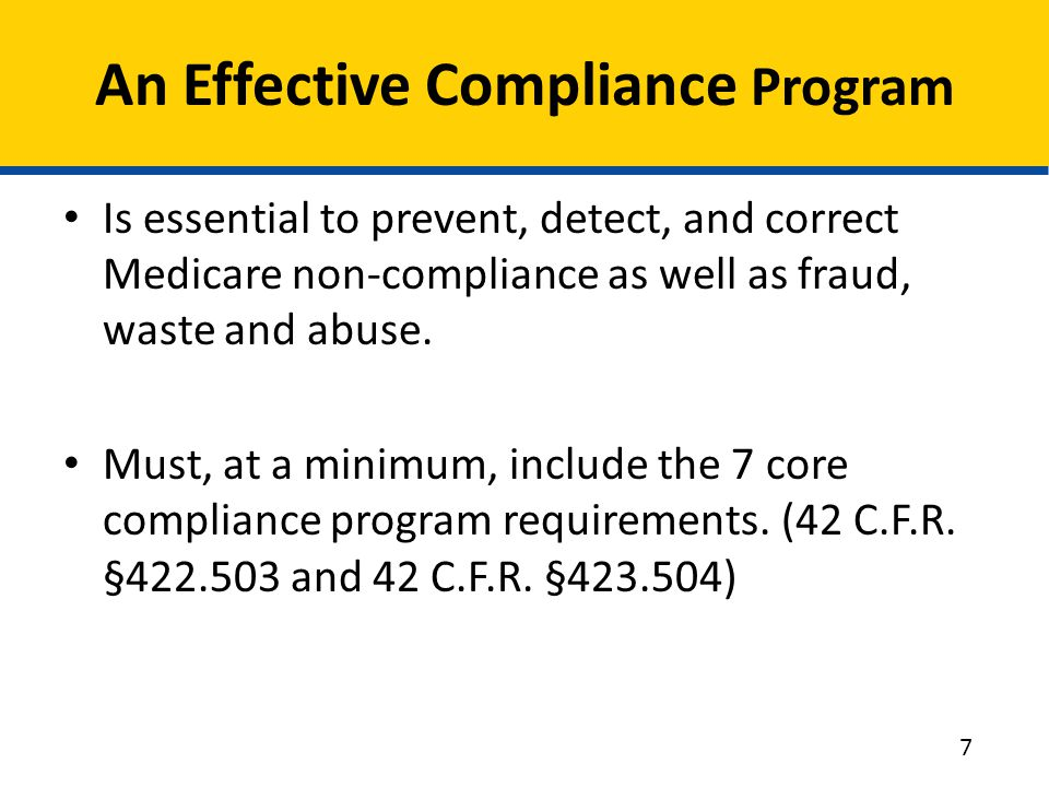 An Effective Compliance Program