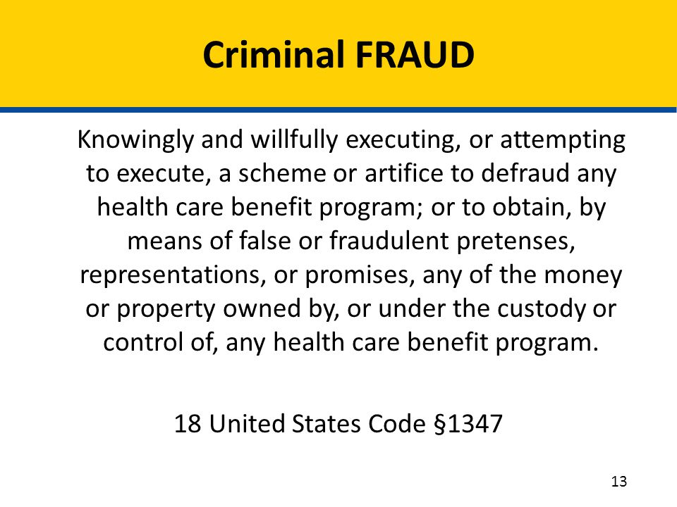 Criminal FRAUD