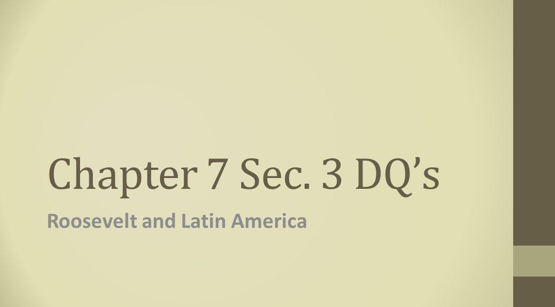 Roosevelt and Latin America