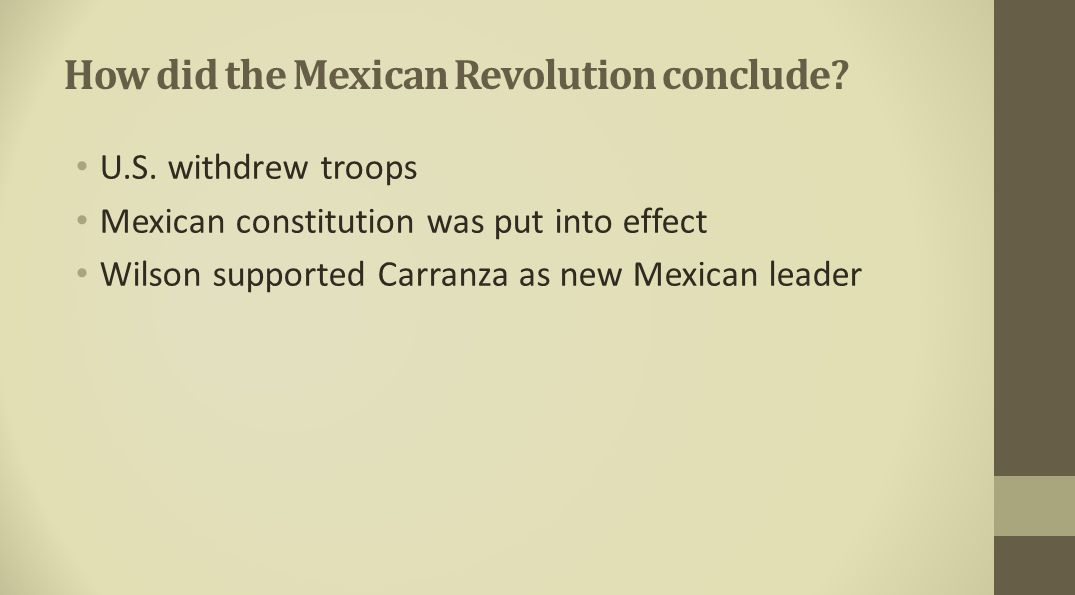 How did the Mexican Revolution conclude