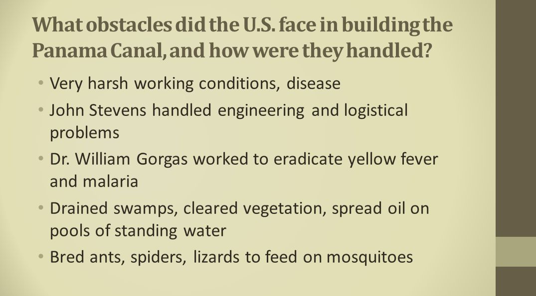 What obstacles did the U. S