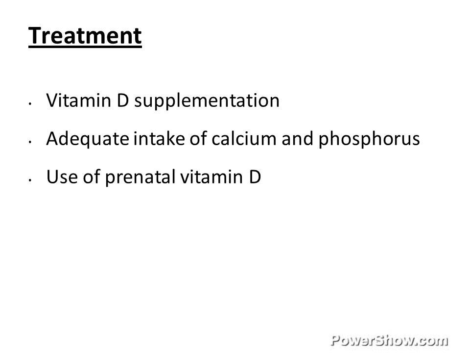 Treatment Vitamin D supplementation