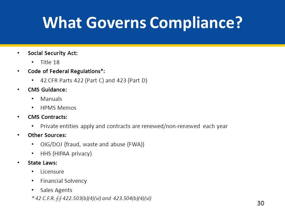 What Governs Compliance