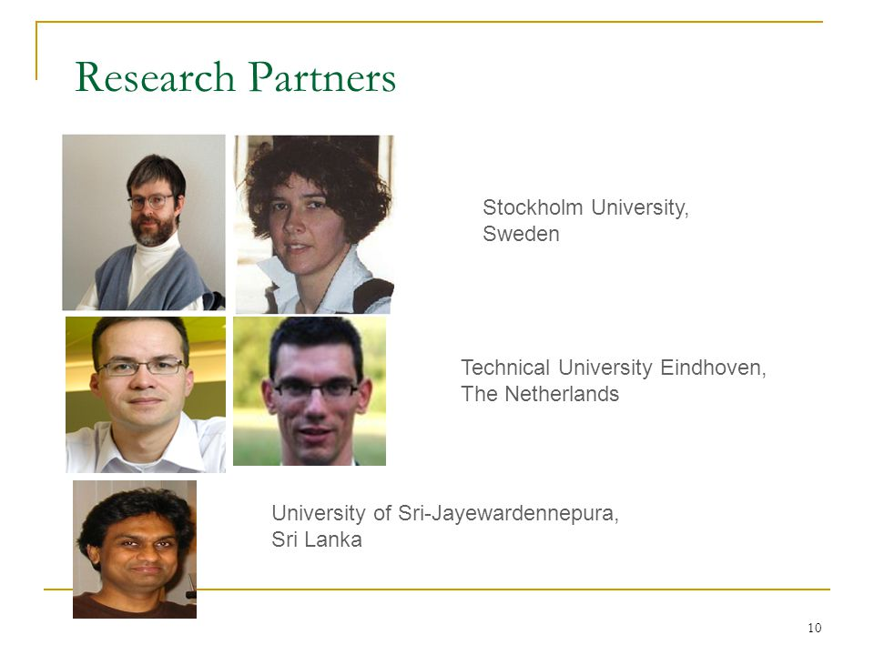 Research Partners Stockholm University, Sweden