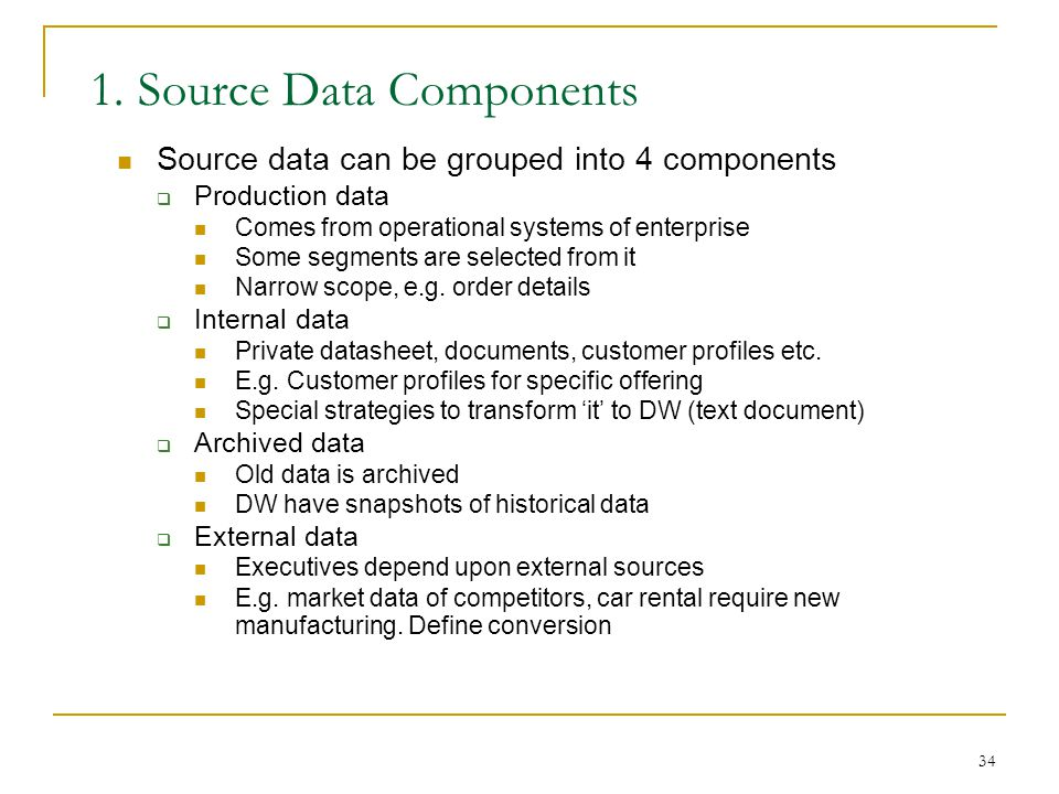 1. Source Data Components