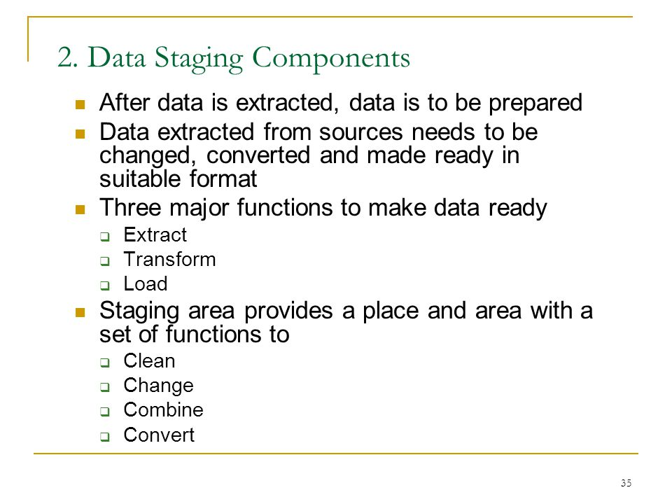 2. Data Staging Components