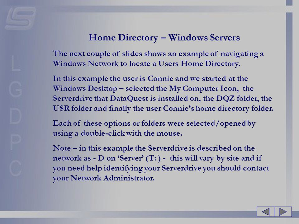 Home Directory – Windows Servers