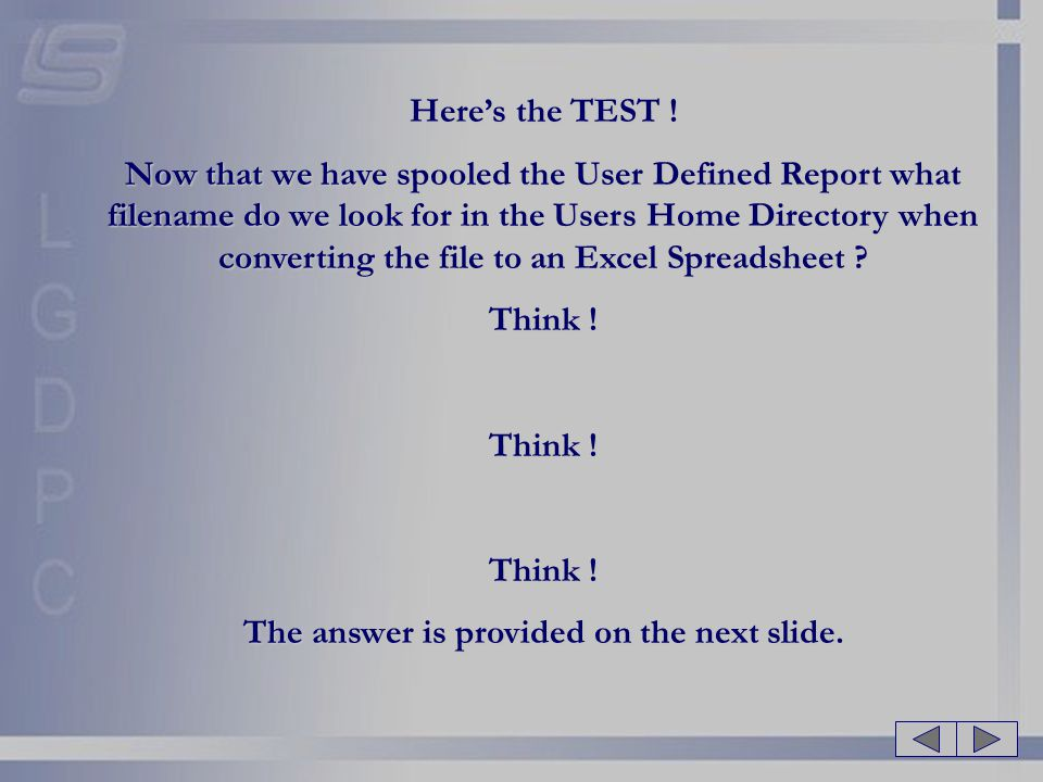 The answer is provided on the next slide.