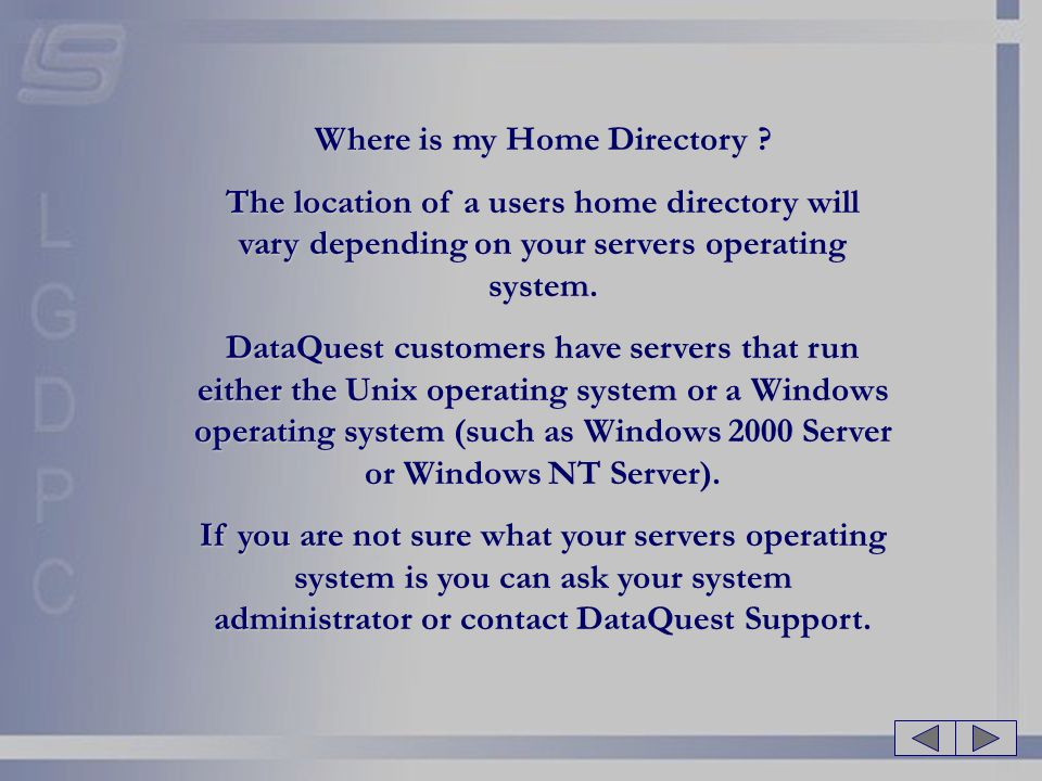 Where is my Home Directory