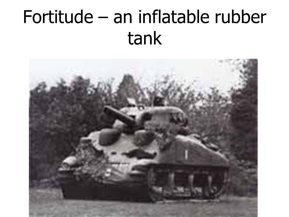 Fortitude – an inflatable rubber tank