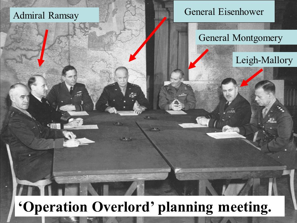 'Operation Overlord' planning meeting.