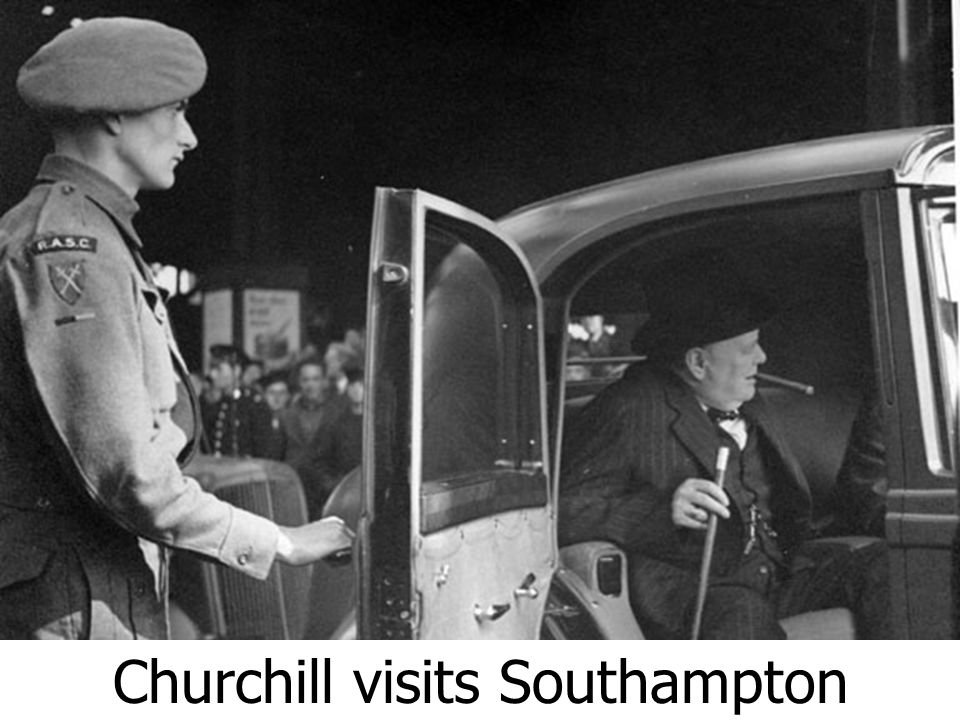 Churchill visits Southampton