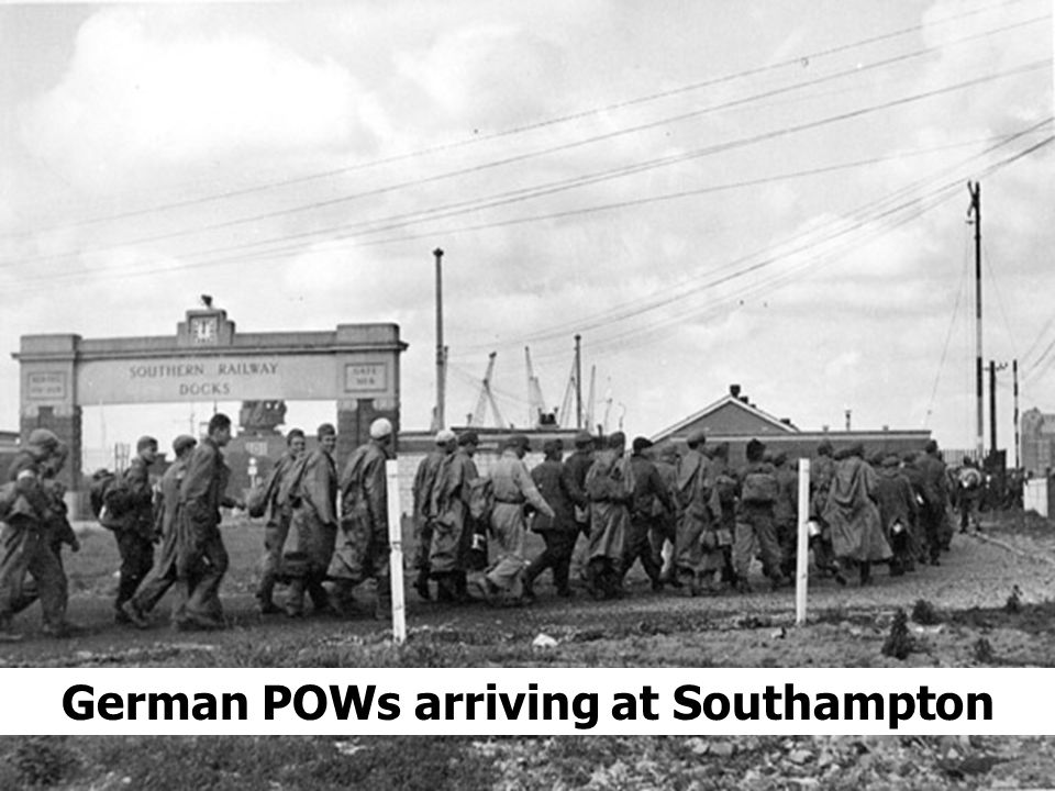 German POWs arriving at Southampton