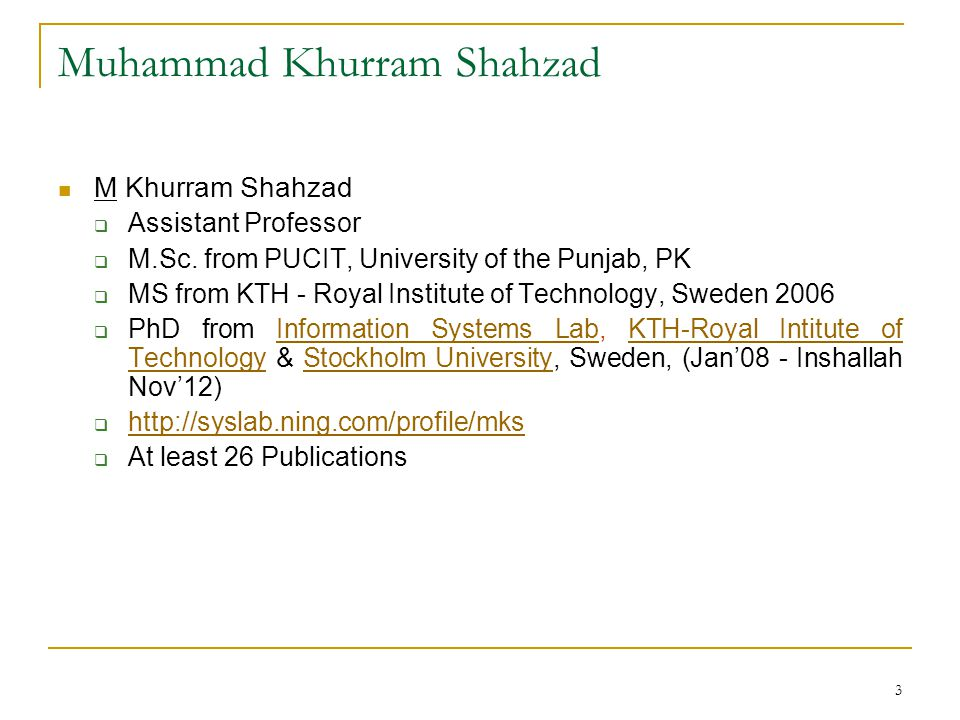 Muhammad Khurram Shahzad