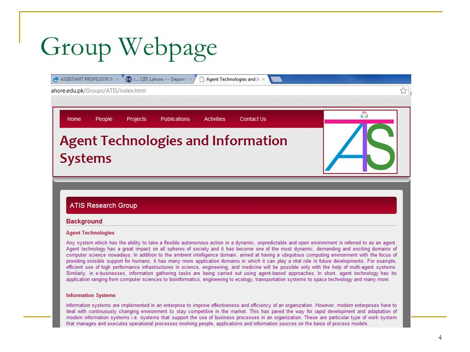 Group Webpage