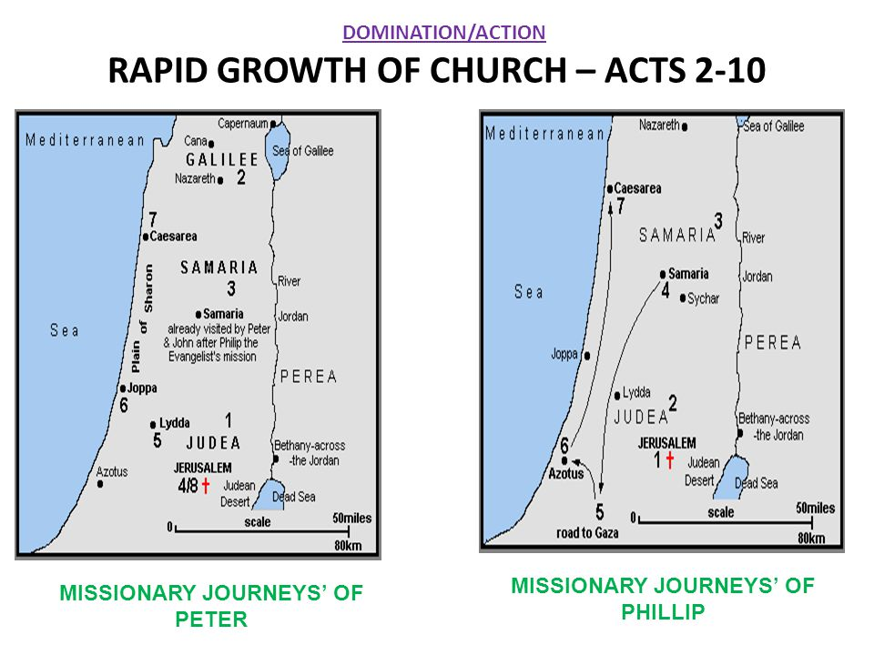 RAPID GROWTH OF CHURCH – ACTS 2-10
