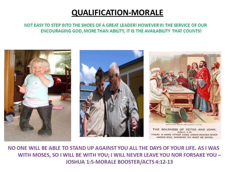 QUALIFICATION-MORALE