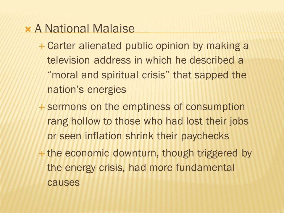 A National Malaise