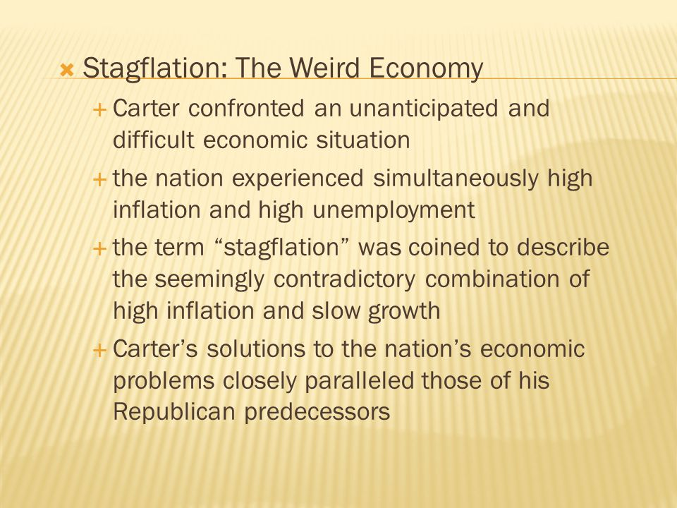 Stagflation: The Weird Economy
