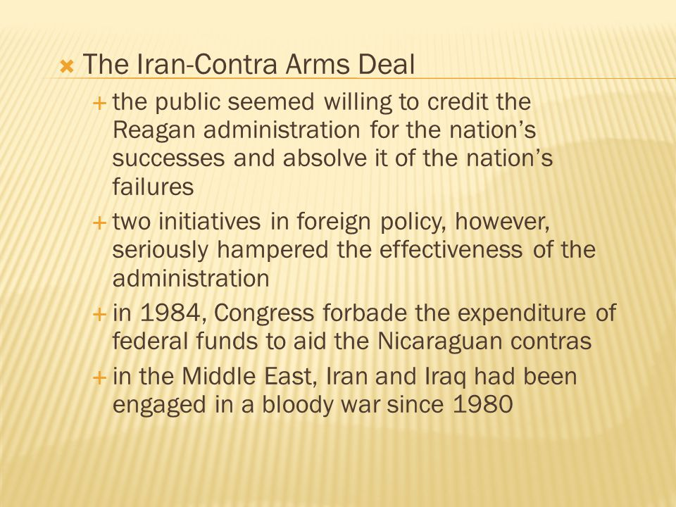 The Iran-Contra Arms Deal