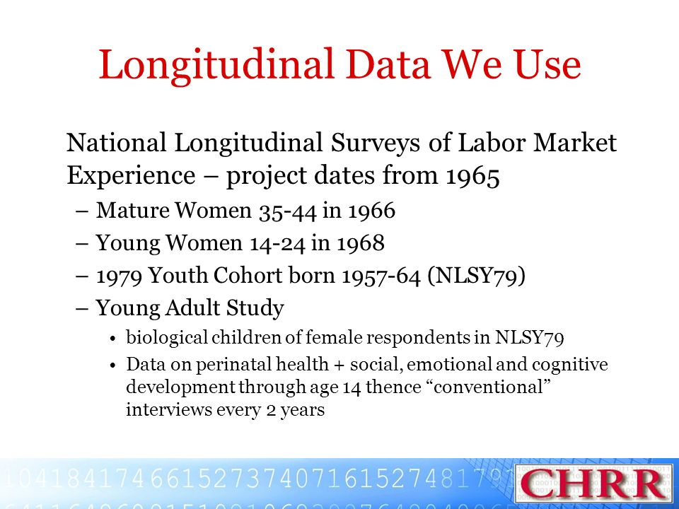 Longitudinal Data We Use