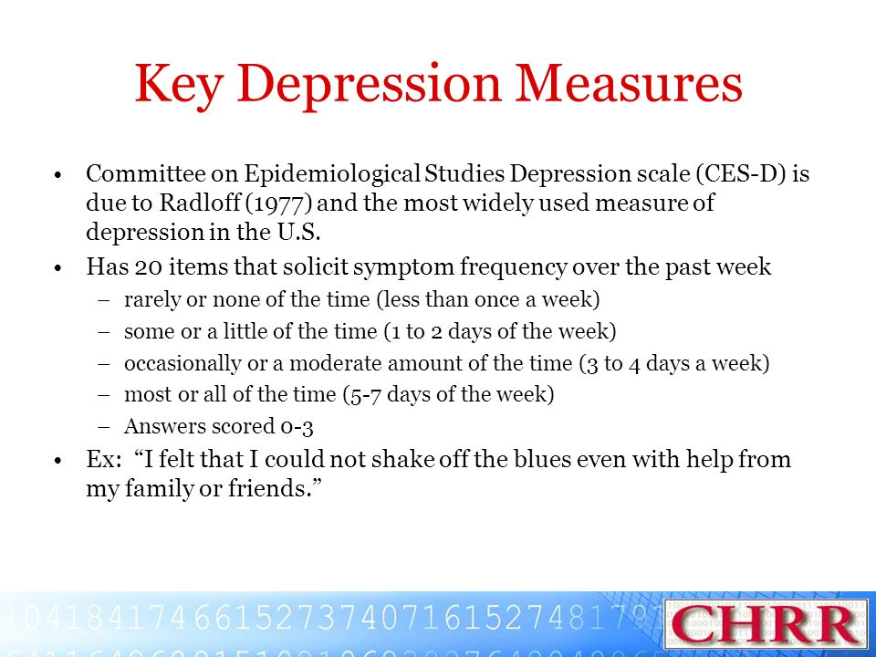 Key Depression Measures