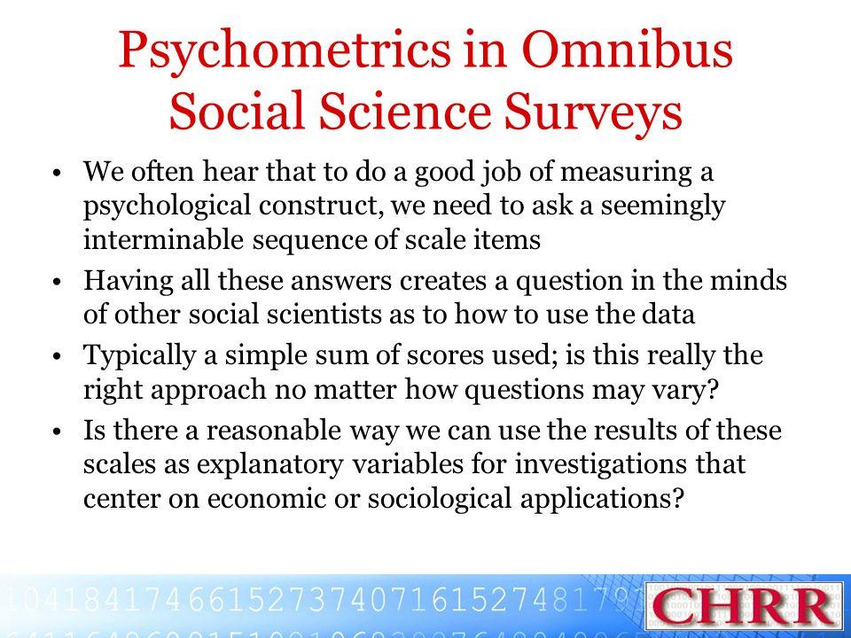 Psychometrics in Omnibus Social Science Surveys