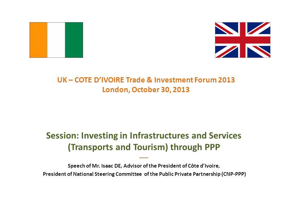 Speech of Mr. Isaac DE, Advisor of the President of Côte d'Ivoire,