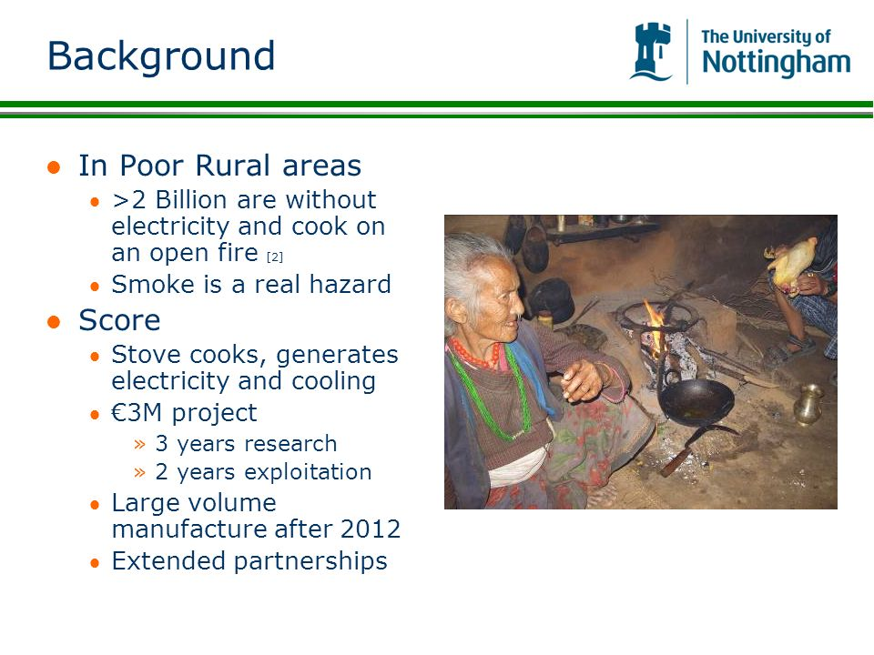 Background In Poor Rural areas Score