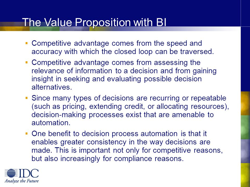 The Value Proposition with BI