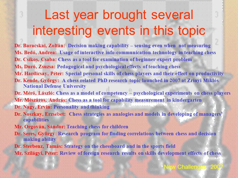 Last year brought several interesting events in this topic