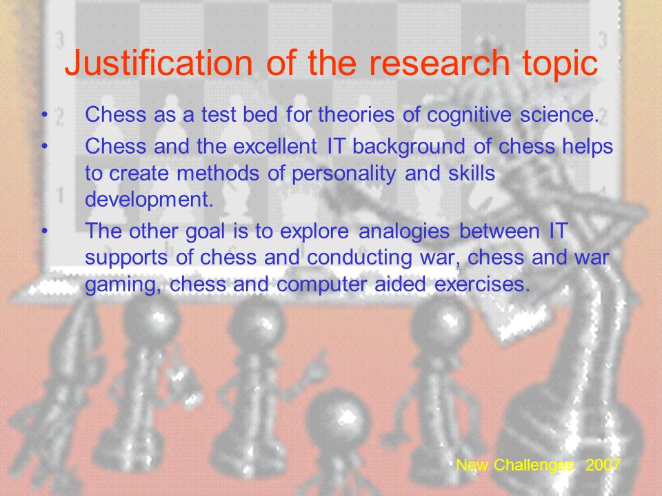 Justification of the research topic