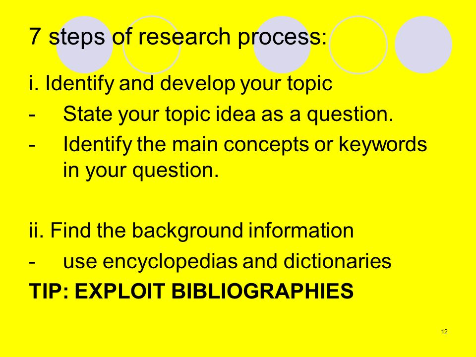 7 steps of research process: