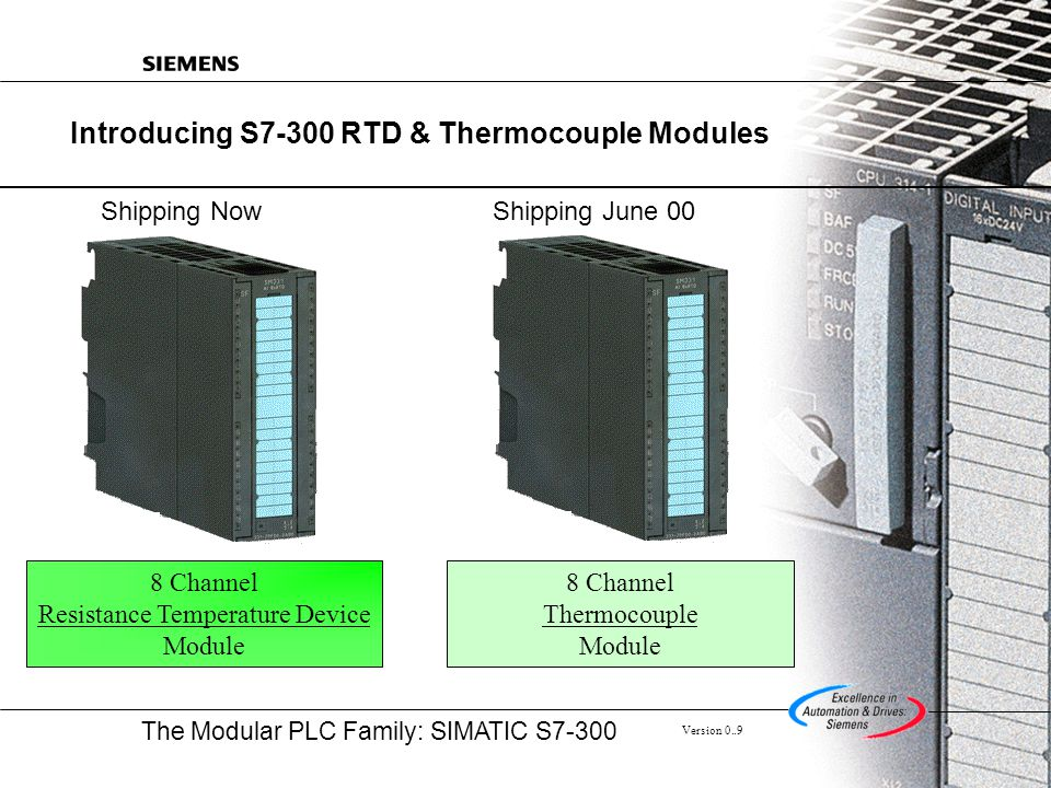 Introducing S7-300 RTD & Thermocouple Modules