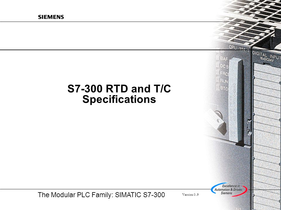 S7-300 RTD and T/C Specifications