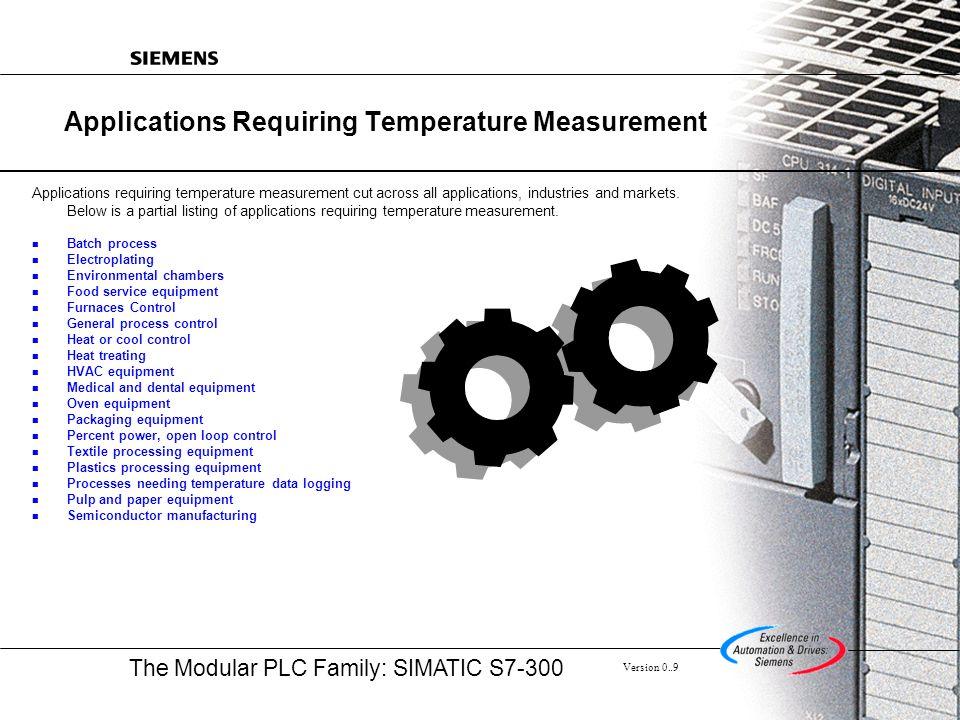 Applications Requiring Temperature Measurement