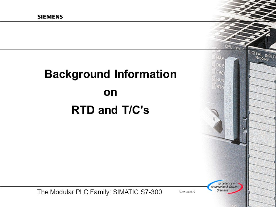 Background Information on RTD and T/C s