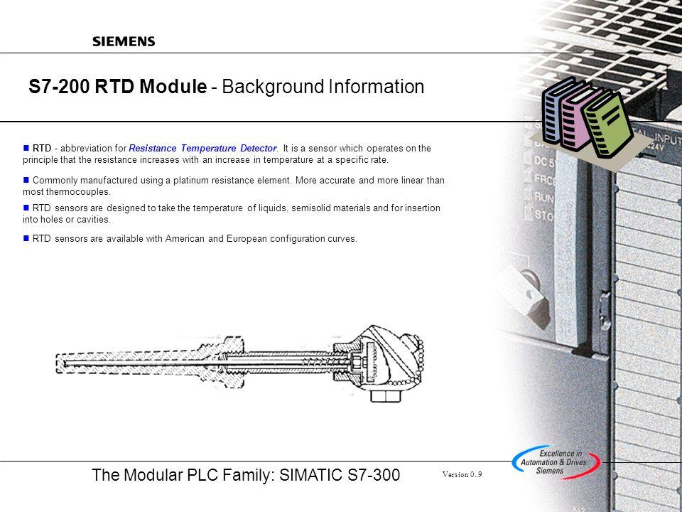 S7-200 RTD Module - Background Information