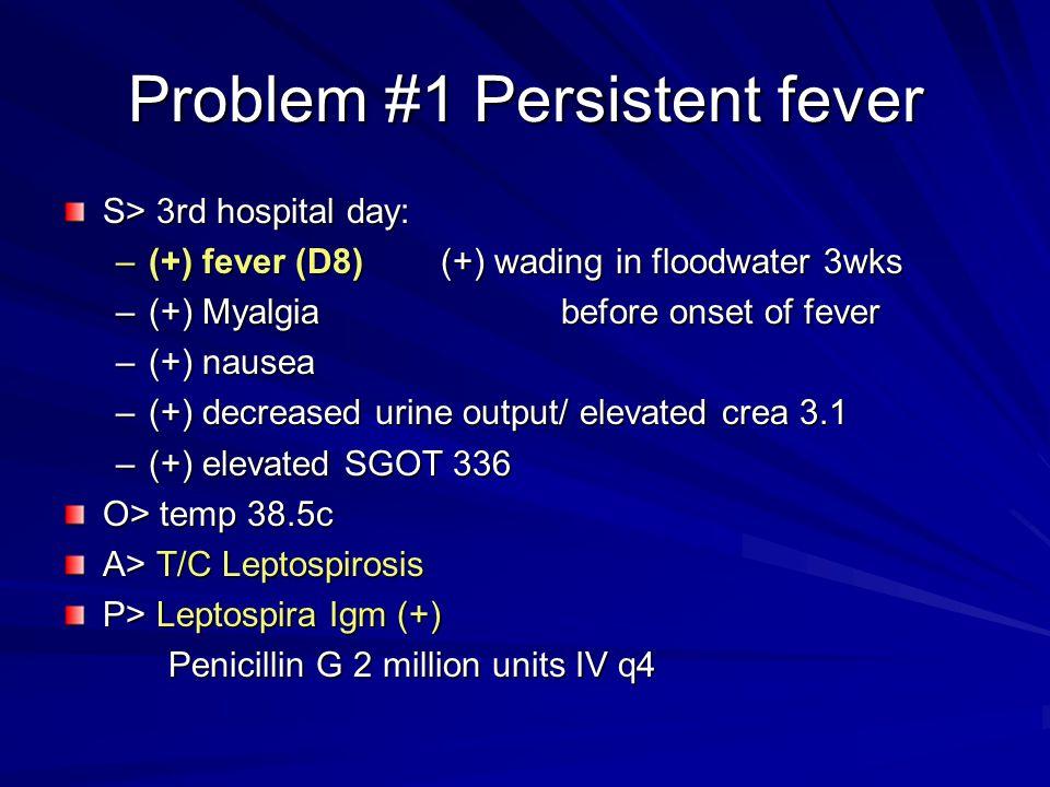 Problem #1 Persistent fever