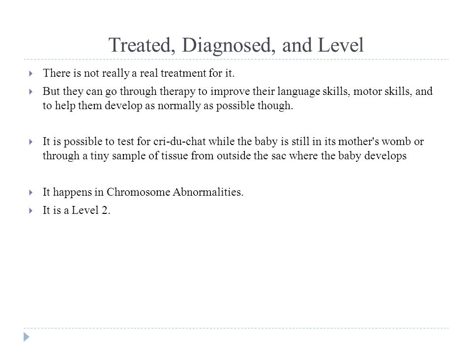 Treated, Diagnosed, and Level