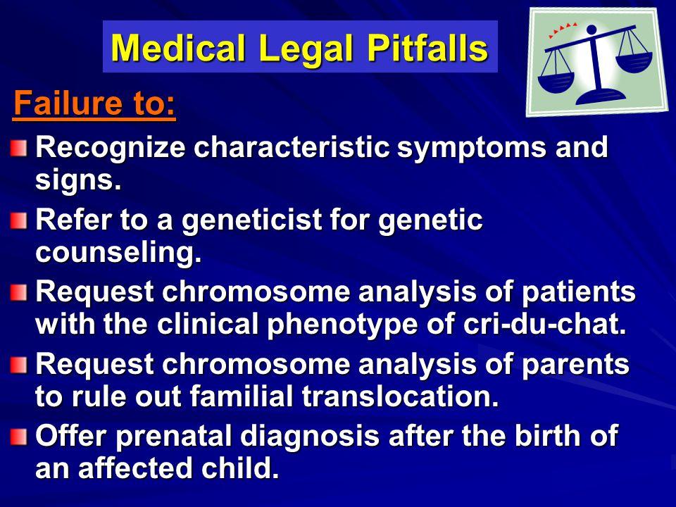 Medical Legal Pitfalls