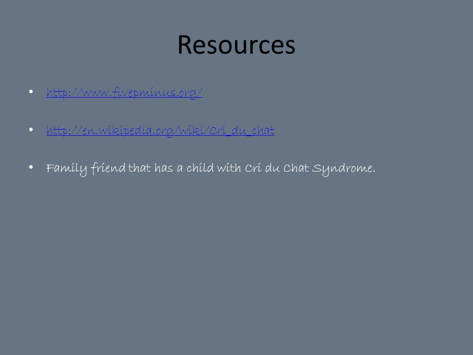 Resources http://www.fivepminus.org/