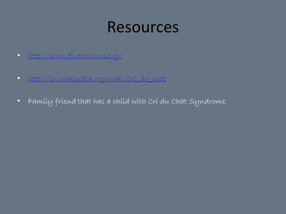 Resources http://www.fivepminus.org/