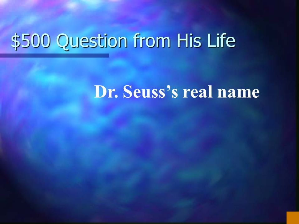 $500 Question from His Life