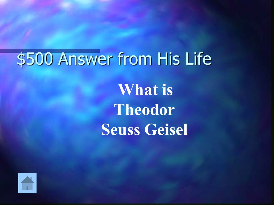 What is Theodor Seuss Geisel