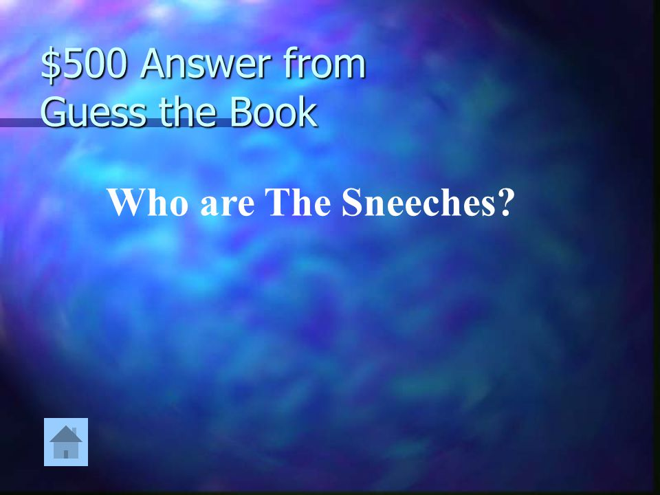 $500 Answer from Guess the Book