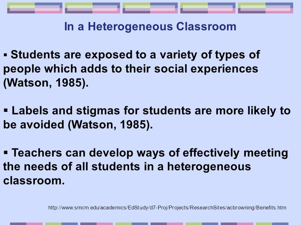 In a Heterogeneous Classroom