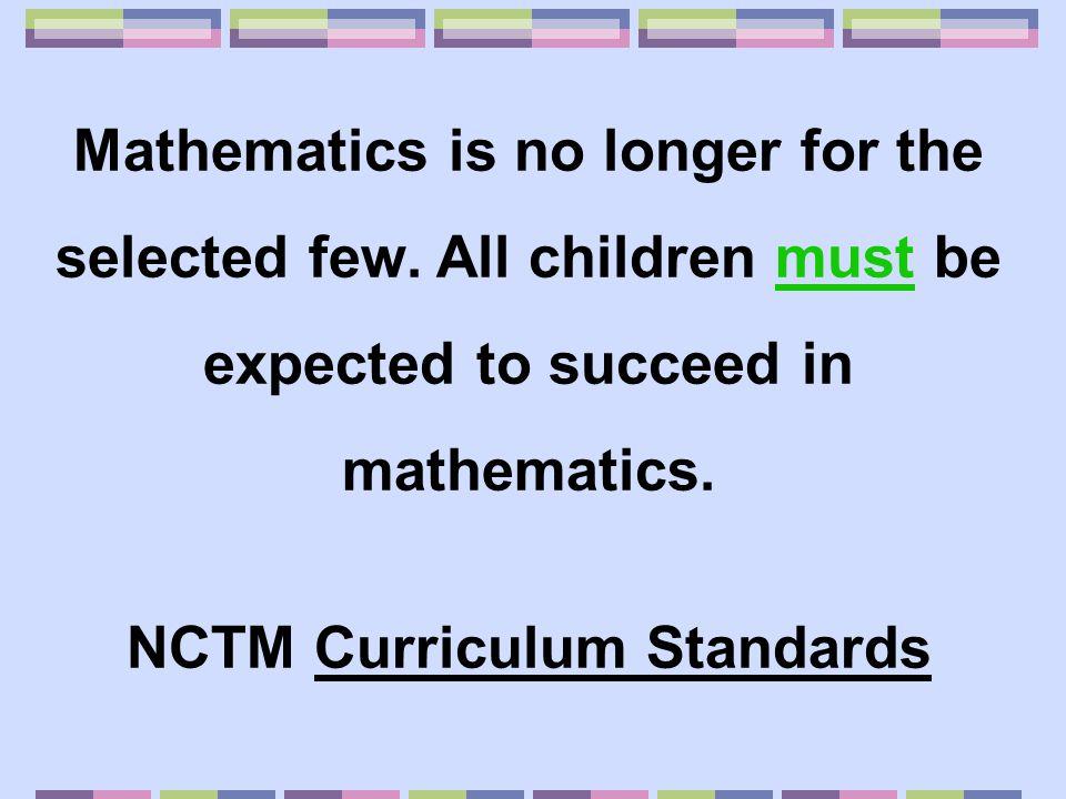 NCTM Curriculum Standards