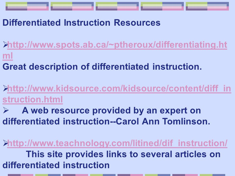 Differentiated Instruction Resources