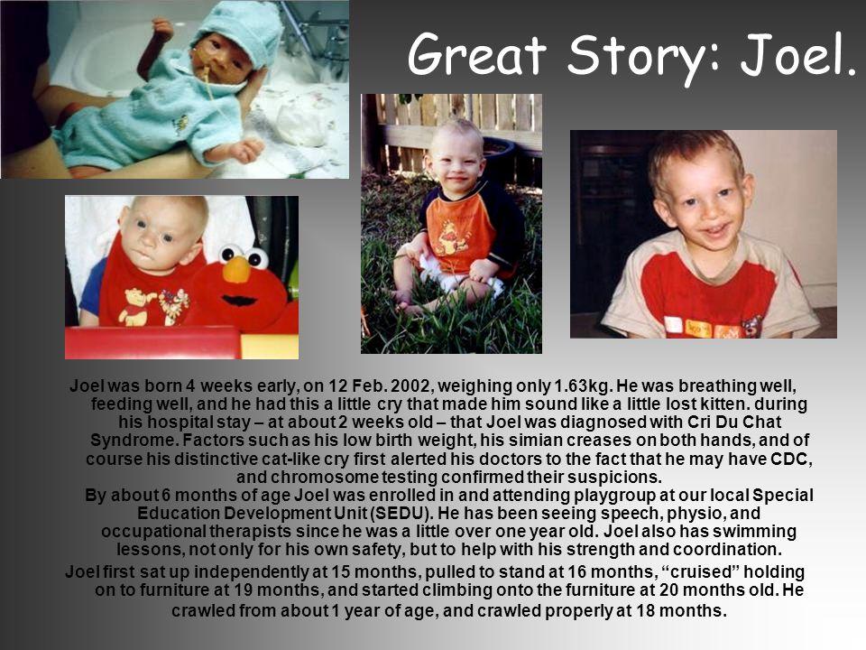 Great Story: Joel.
